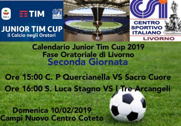 Calendario Tim Cup.Calendario Junior Tim Cup 2019 Seconda Giornata Csi Livorno